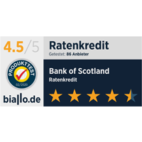 Bank of Scotland Bankentest von Biallo Siegel