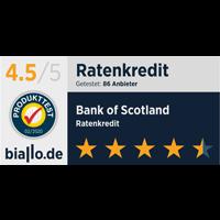 Bank of Scotland Bankentest von Biallo Siegel